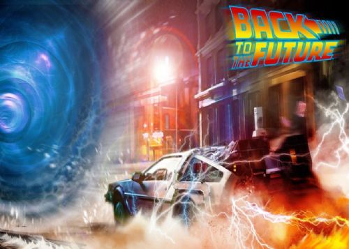 1980's Movie - BACK TO THE FUTURE - PORTAL OF TIME canvas print - self adhesive poster - photo print